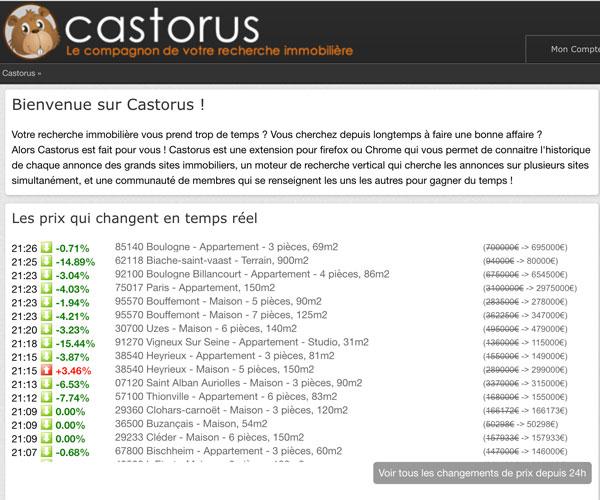 Utilise le site castorus.com pour trouver des biens négociables