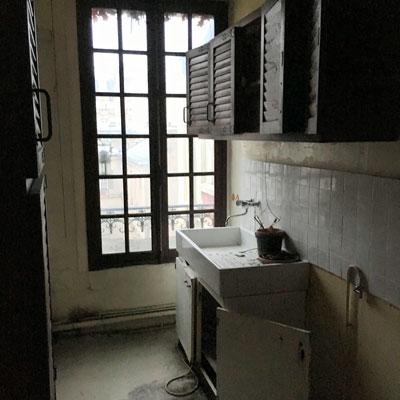 Photo de la cuisine avant rénovation