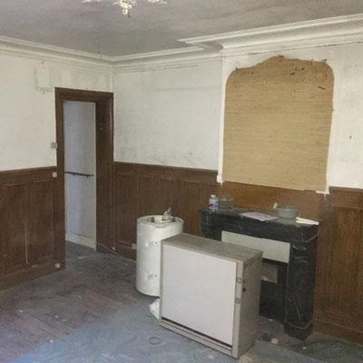 Photo du salon avant rénovation