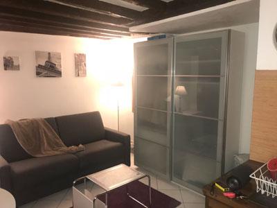 Le studio manque de rangements. Cette armoire ne suffit pas.