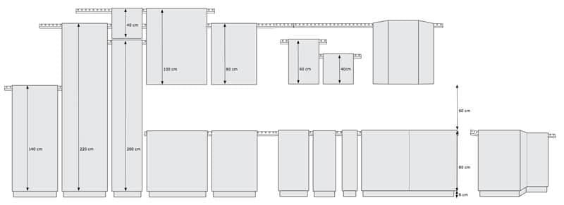 La large gamme de caissons de cuisine chez Ikea permet de jouer avec les volumes