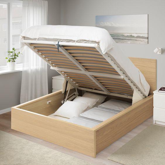 Lit coffre pour optimiser le rangement dans une petite chambre de 9 m2