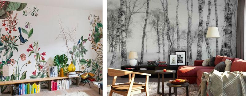 Papier peint panoramique pour décorer sa location courte durée