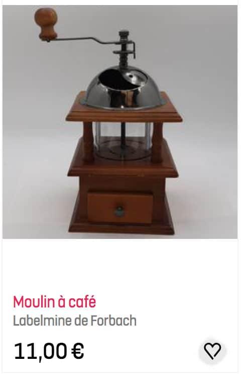 Moulin à café vintage trouvé chez Emmaüs